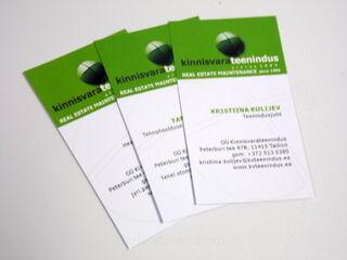 Käynttikortit kinnisvara teenindus