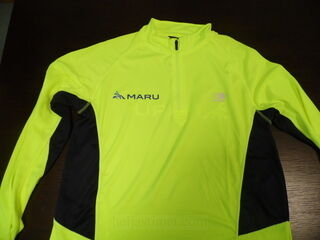 Lämpösiirtö painatuksella logo Maru