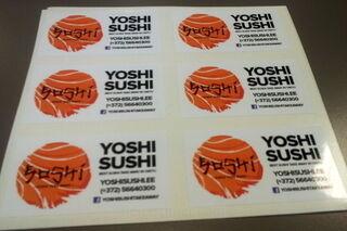Etkettitarrat Yoshi Sushi