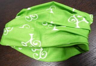 vihreä putkihuivi
