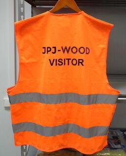 Heijastinliivi logolla JPJ- Wood