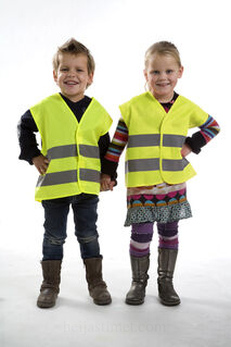 Promotional safety jacket for children.