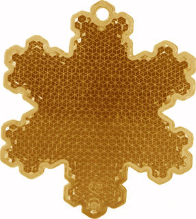 Reflector snowflake 58x66mm copper