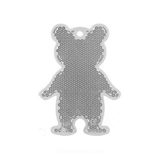 Reflector bear 51x70mm clear