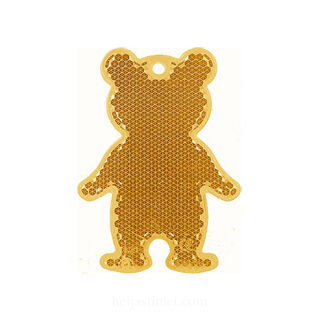 Reflector bear 51x70mm orange