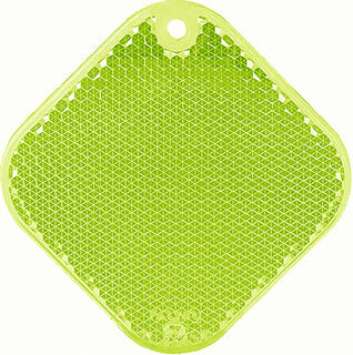 Reflector square 63x63mm green