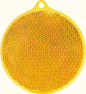 Reflector round 55x61mm orange